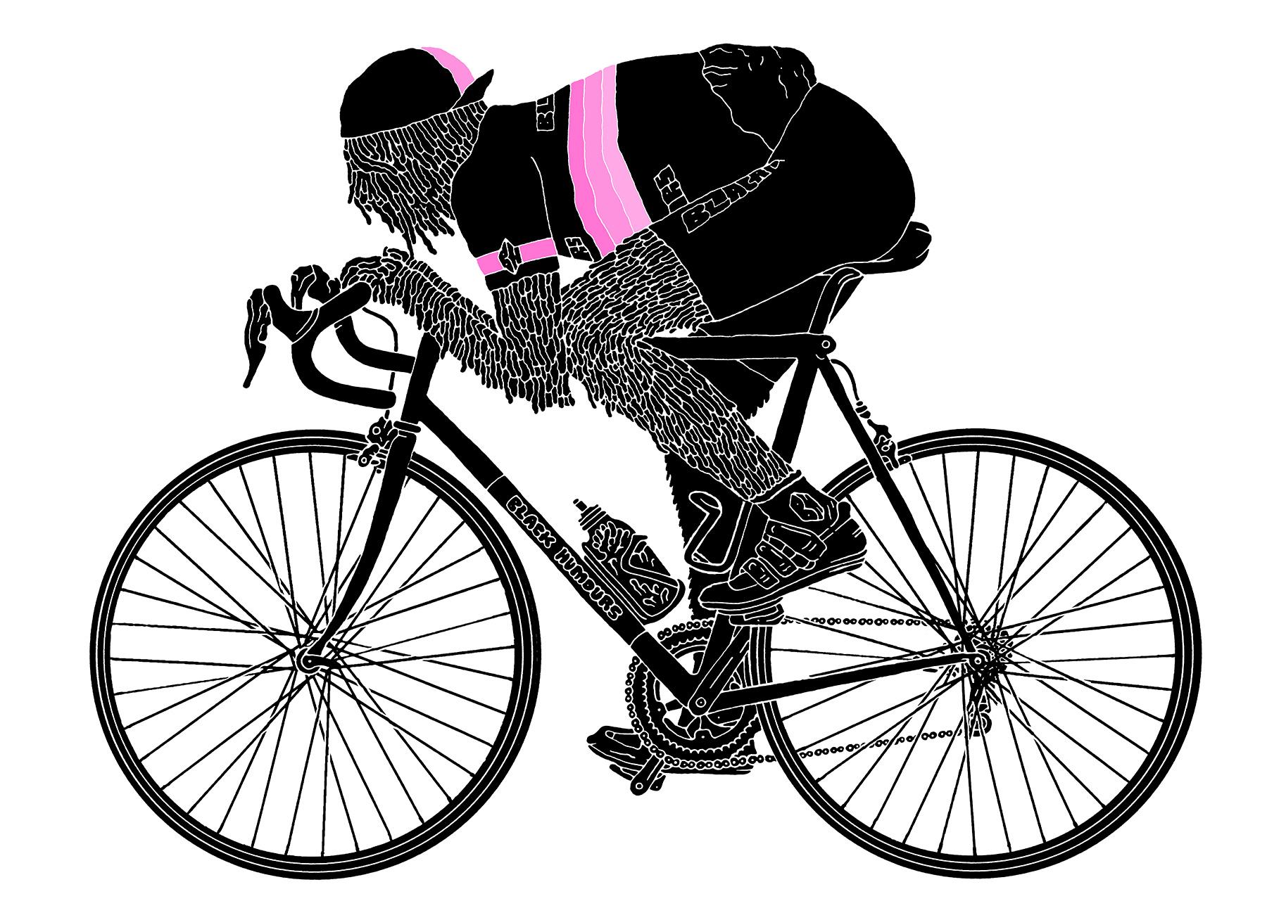 Black-Drip-Face-Cyclist