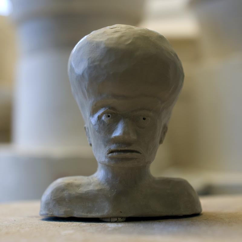 embryo boy clay bust jody barton