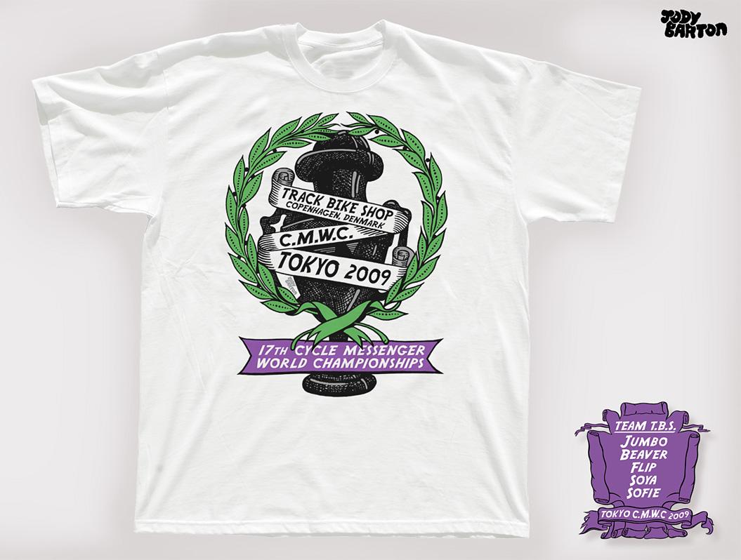 Track bike shop copenhagen jody barton for Bike and cycle shoppe shirt